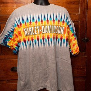 Harley-Davidson tie-dye Downtown Seattle tee
